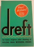 Vintage Unopened NOS Sealed 1950's Dreft Laundry Soap Detergent Full