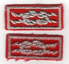 Distinguished Commissioner Service Award Knot, Red Weave, Clear Plastic Backing