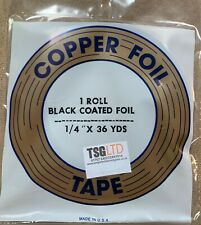 """Stained Glass Tools & Supplies Edco Copper Foil 1/4"""" Black Backed 36 Yards"""