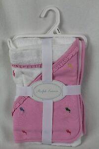 Polo Ralph Lauren Hooded Baby Bath Towel and Mitt NWT