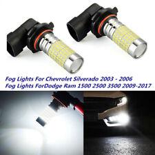 Fog Lights For Chevrolet Silverado 2003 - 2006 Dodge Ram 1500 2009-2017 H10 100W