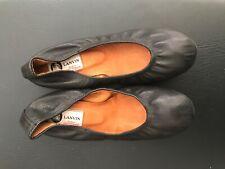 LANVIN Loafer Flats in black Leather EU 38 US Size 8