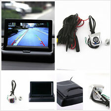 """Foldable 4.3"""" Display Monitor+Car License Screw Reverse Front/Rear View Camera"""