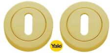 YALE ESCUTCHEONS KEY HOLE KEYHOLE POLISHED BRASS FINISH - NEW