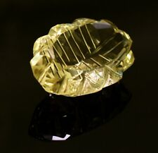 51ct Big Natural Rare Yellow Lemon Quartz Carving Faceted Loose Gemstone on ebay