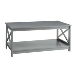 Convenience Concepts Oxford Coffee Table, Gray - 203082GY