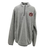 Auburn Tigers NCAA Official Adult Size Quarter Zip Up Polyester Jacket New Tags
