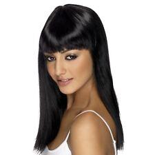 Longue noire Perruque Séduction Smiffys Déguisement pour Femmes