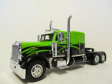 DCP 1/64 SCALE 379 PETERBILT 60'' BUNK LIME GREEN & BLACK,  BLACK FRAME