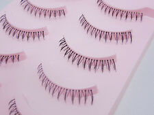 Hot! N0.35 Natural eye lashes handmade Black Lower False eyelashes Clear band