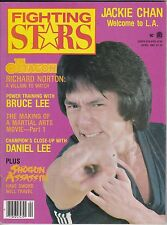 martial arts-fighting stars magazine-back issue-april 1981