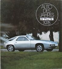 """Prospekt Porsche 928 """"Auto des Jahres"""" 1978"""