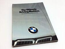 1982 BMW 733i 633 CSi 528e 320i Full Line Preview Brochure