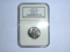 1999-D 25C Pennsylvania State Quarter NGC MS 67 PL