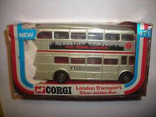 CORGI # 471 LONDON TRANSPORT SILVER JUBILEE BUS IN ITS ORIGINAL BOX