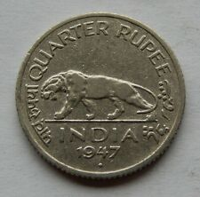 1947 India Quarter Rupee Coin  KM#548  SB6089