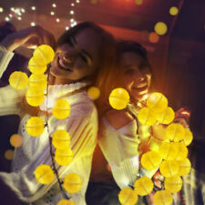 30pcs LED Solar Power Fairy String Light Lantern Outdoor Party Garden Yard Decor