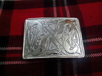 Scottish Celtic Design Kilt Belt Buckle High Quality Chrome Finish