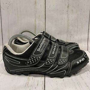 Shimano Womens 2 Bolt  Cycling Shoes SH-WM50 Black Hook & Loop 7.8 EUR 40