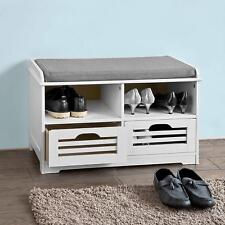 Hallway Storage Bench Seat Shoe Cabinet W Compartment Wooden Grey Home Furniture