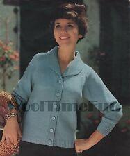 Vintage Knitting Pattern/Instructions 1950s Lady's Jacket/Cardigan. DK Wool.