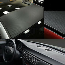 3D Black Carbon Fiber Vinyl Wrap Roll Self Adhesive Car Sticker 1.27M x 30cm Hot