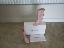 Red Valentino Light Pink Rubber Rain Boots