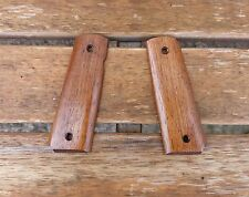 CUSTOM  ROSEWOOD STAINED IROKO WOOD GRIPS TO FIT COLT SWISS ARMS P1911