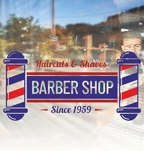 Barber Shop Window Sticker Custom Front Sign Decal Salon Modern Hairdresser