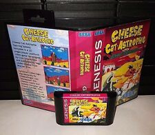 Cheese Cat - Astrophe - Platformer Video Game for Sega Genesis! Cart & Box