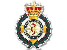 3x4 inch Badge Shaped London AMBULANCE Service Sticker  - uk england logo crest