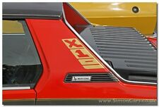 NEW FIAT BERTONE X19 X1/9 1500 REPRODUCTION BERTONE PILLAR DECAL LOGOS - GOLD