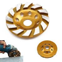 "4"" Diamond Segment Grinding Wheel Cup Disc Grinder Concrete Granite Stone Cut UK"