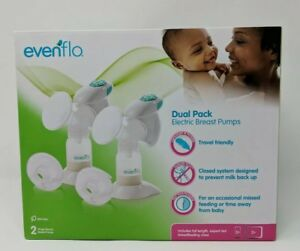 New Evenflo Dual Pack Electric Breast Pumps - (Model 3045)