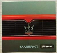 MASERATI SHAMAL Car Sales Brochure c1991 ITALIAN TEXT #AB010