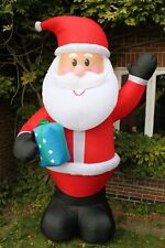 REDUCED Inflatable Father Christmas Santa With LED Light 3MTall Indoor/Outdoors