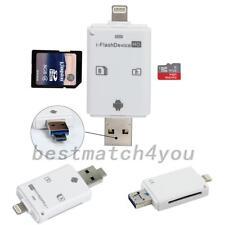 USB i-Flash Drive Micro SD/TF Memory Card Reader Adapter For Phone iPad