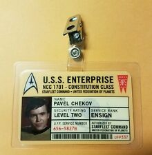 Star Trek Id Badge-UFP Ensign Chekov Pavel prop costume cosplay