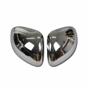 For Fiat 500X 2016-2018 Chrome Rear View Mirror Cover Trims