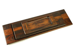 Vtg Jean Gillon Jacaranda Wood Art Brazil Mid Century Modern Nesting Tray Set