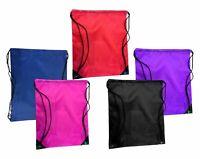 Drawstring Backpack Plain Bag PE Boys/Girls Kit School Kids Sports Bag Storage B
