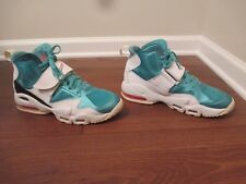 Used Worn Size 11.5 Nike Air Max Speed Turf Shoes White Teal Orange Black