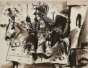 """PABLO PICASSO """"Cavalier en Armure"""" Limited Edition Lithograph - Marina Picasso"""