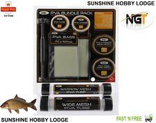 Coarse Carp Fishing PVA Bundle Wide / Narrow Mesh String Bags Plunger Refill NGT