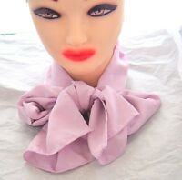 Vintage Women's light lavender Purple Skinny Neck or head Scarf