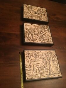 Satan Witches Art - 3 panels on Canvas from Compendium Maleficarum by Guazzo
