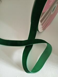 2 metres of  deep green velvet christmas ribbon