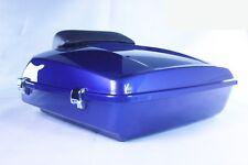 "Superior Blue Razor Tour Pack Luggage 2014-18  Harley ""RUSHMORE"" Touring"