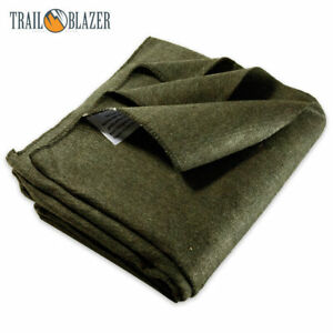 2lb Wool Blanket Olive Drab Green Warm Army Military Emergency Survival Camping