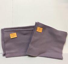 "Solid Purple Fleece Fabric 58"" Wide x 5/8 Yard 58"" Long + 4 10.5"" Squares Scraps"